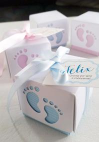 Recuerdos De Recien Nacido Varon.Cajitas Souvenir Nacimiento Recien Nacido Baby Shower X10