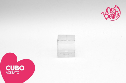 cajitas transparentes acetato recuerdos cubo bodas #5