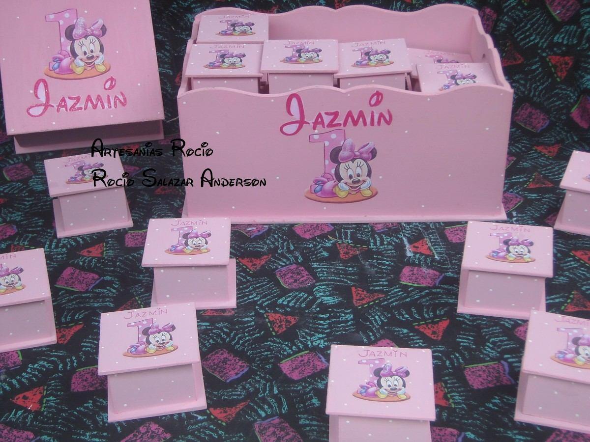 Cajitas,souvenirs 1º Año O Nacimientos,mickey Y Minnie Bebes ...