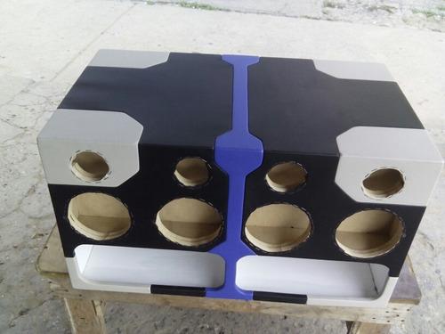 cajón 12 medios 8  triaxiales 6x9 61\2 y balitas