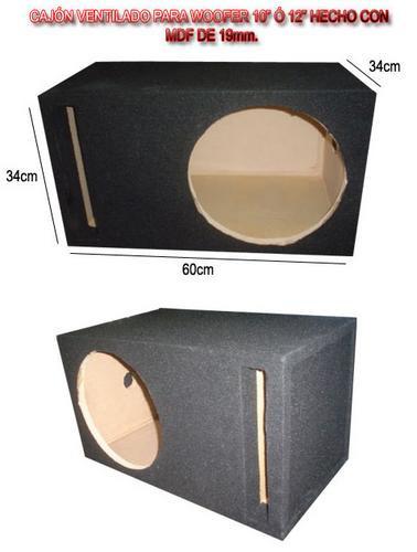 cajon acústico de mdf para woofer 12 mtx somos fabricante
