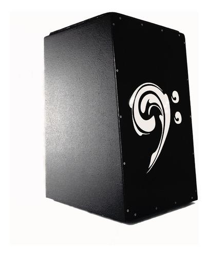 cajon acústico percussionline clave de fá preto promoção!