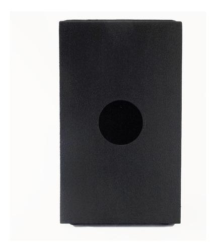 cajon acústico percussionline liso preto percussão promoção!