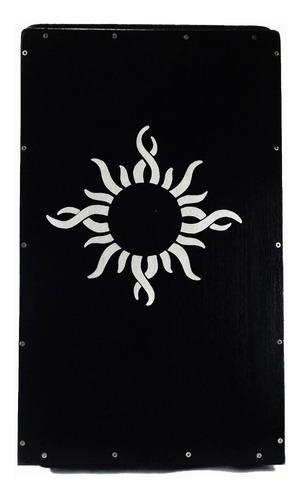 cajon acústico percussionline sol preto oferta! promoção!