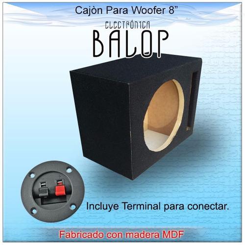 cajón acústico ventilado para woofer 8   de mdf