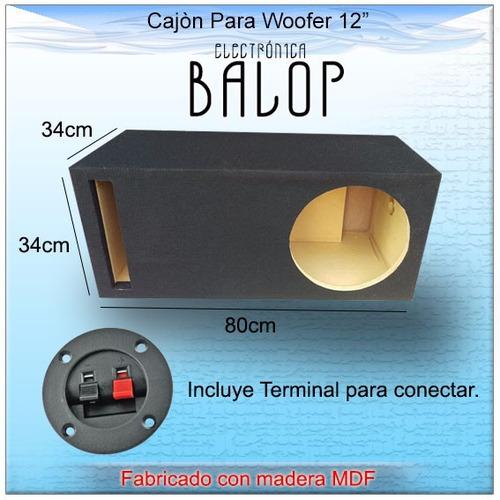 cajón acústico ventilado (porteado) para woofer 12  de mdf