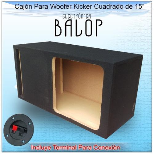 cajon acústico ventilado (porteado) para woofer 15 pulgadas