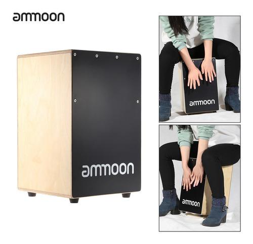 cajón ammoon de madera, instrumento de percusión p/niños