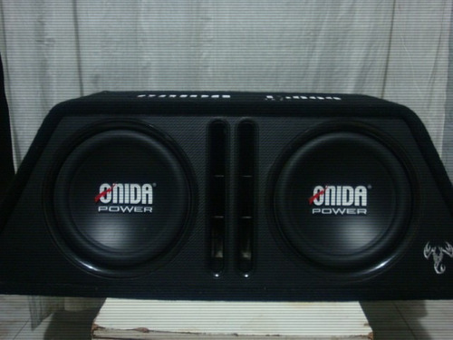 cajón amplificado onida power 15.000 watt bajos 12 pulgadas
