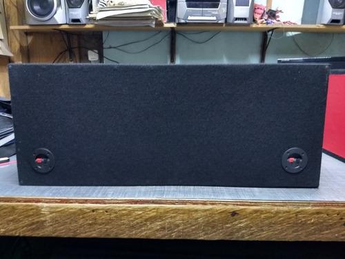 cajón bafle bajo subwoofer 12 pulgadas doble mdf 18mm negro