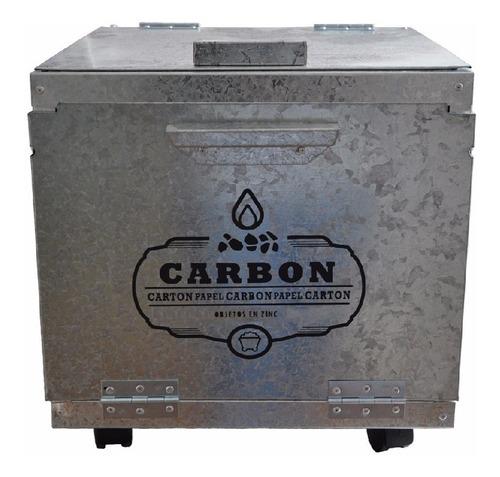cajon baul zinc bajo parrilla carbon carbonero para asado c