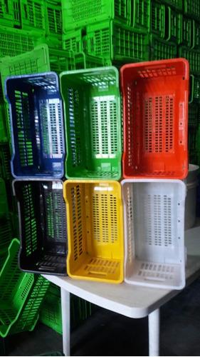 cajon canasto plastico apilable colores reforzados