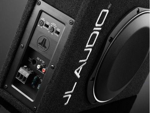 cajon con subwoofer amplificado jl audio acs110lg 10tw1 400w