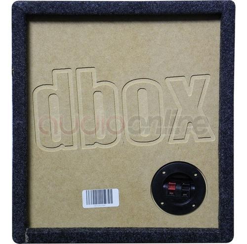 cajón dbox 1x12xpc para subwoofer de 12  pulgadas mdf