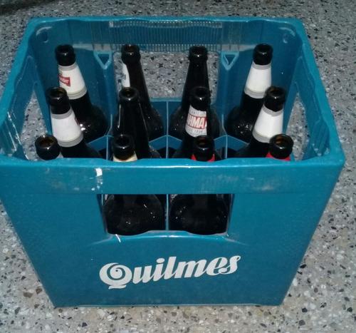 cajon de cerveza con envases quilmes stella brahma
