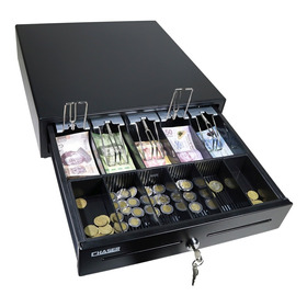 Cajon De Dinero 5 Divisiones Ajustable Monedas Black Cash