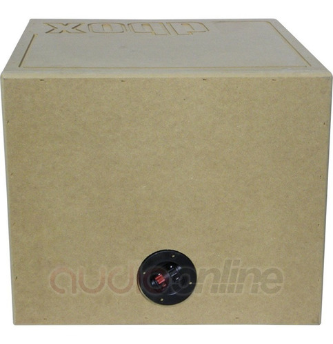 cajón de mdf dbox 1x10sp para subwoofer de 10  pulgadas