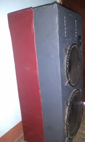 cajon de sonido con dos cornetas