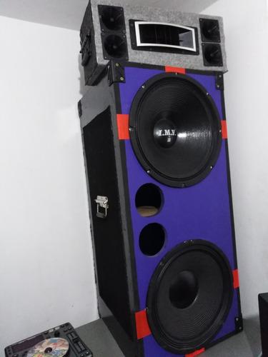 cajon doble 15 más amplificador soundbarrier
