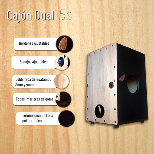 cajon dual - 5 sonidos - flamenco  peruano sonajas/bordonas