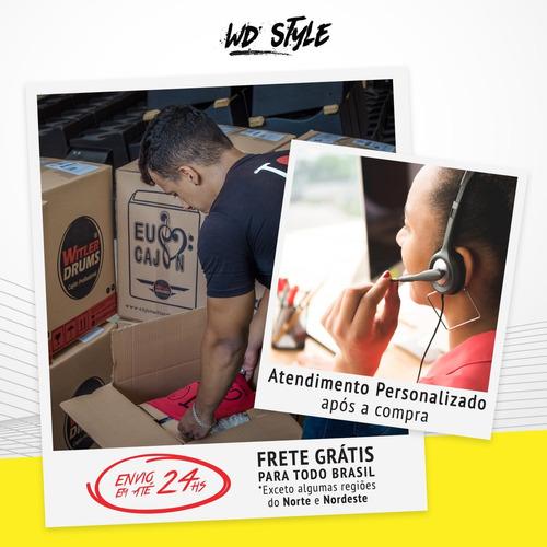 cajón eletroacústico personalizado style + 01 vassourinha