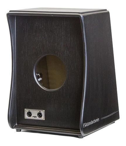 cajon fsa standard preto elétrico fs2501 c/ captação dupla