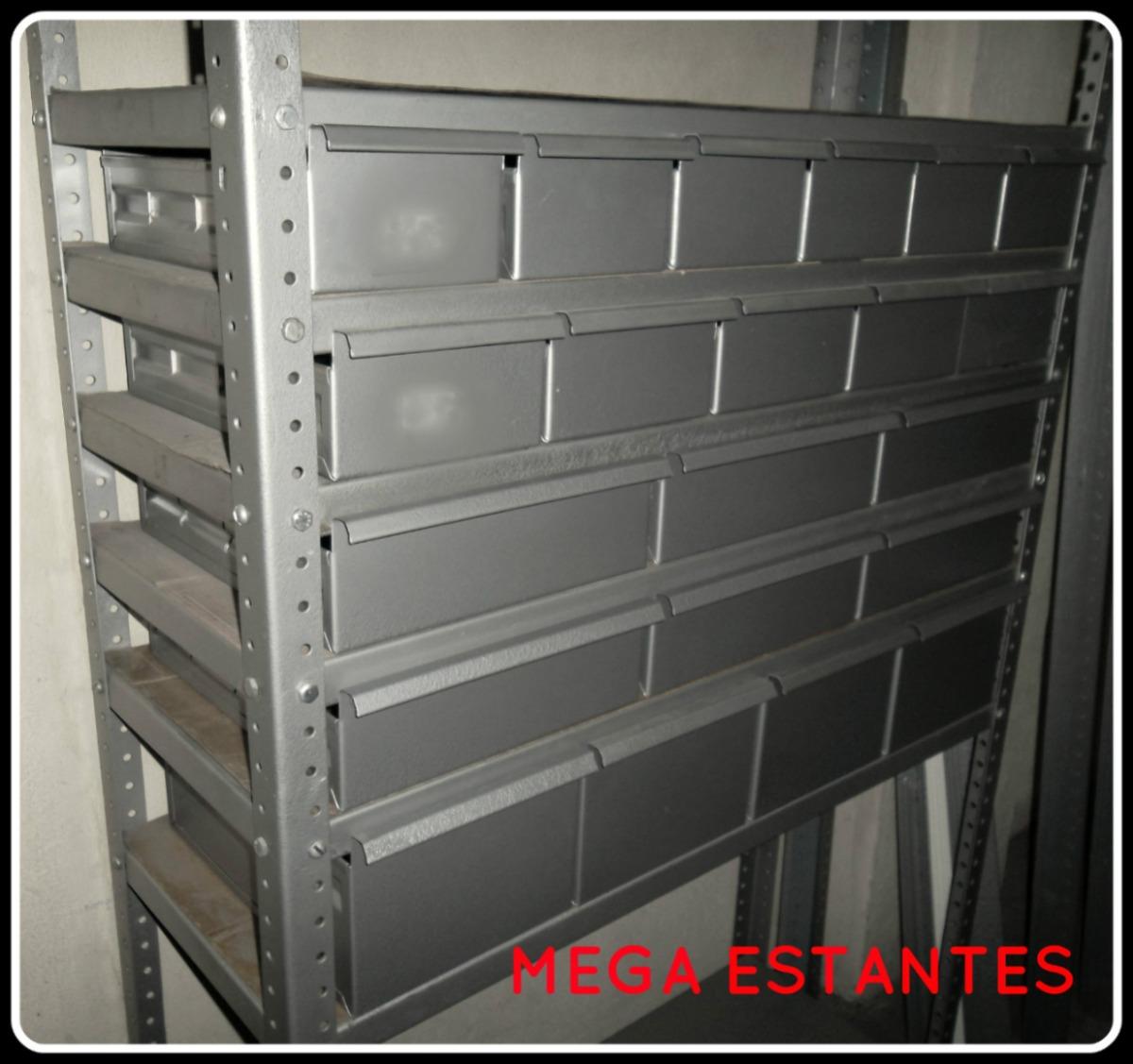 Caj n gaveta para anaquel estante estanter a met lica c 22 en mercado libre - Estante con cajon ...