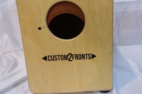 cajon gm custom 2 fronts peruano y flamenco dos en uno