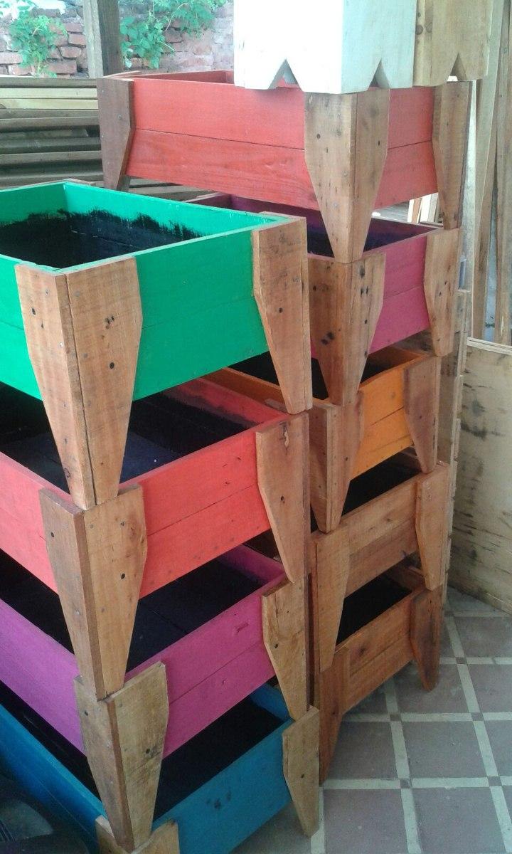 Caj N Grande Para Huerta O Cantero En Madera Reciclada 800  # Muebles La Huerta