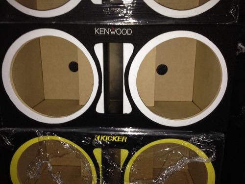 cajon mdf para 2 woofer de 12  de la firma kenwood ,kicker,m