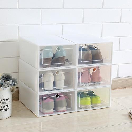 cajón organizador de zapatos plegable de plástico universal