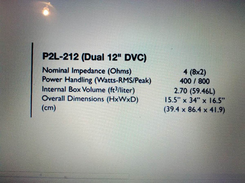 cajon para sonido vehiculo rockford fosgate p2l-212