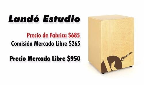 cajón peruano modelo landó estudio kumaras percusion
