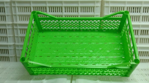 cajon plastico bajo apilable fac a mat virgen uso alimento
