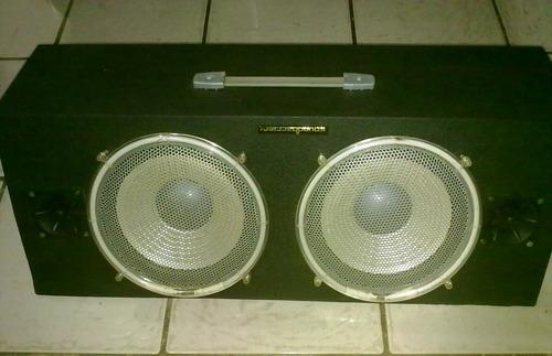 cajon sonido luz neon original soundbarrier 2bajos 2twiters