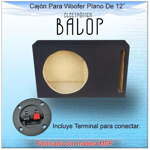 cajón ventilado (porteado) para woofer 12 plano de mdf