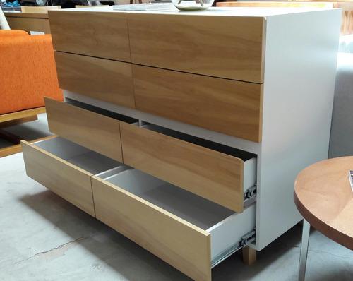 cajonera 8 cajones madera comoda laqueada forbidan muebles