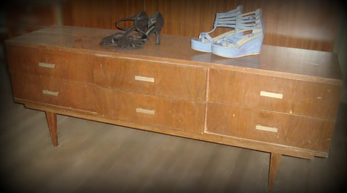 cajonera còmoda aparador mueble estilo retro vintage sixties