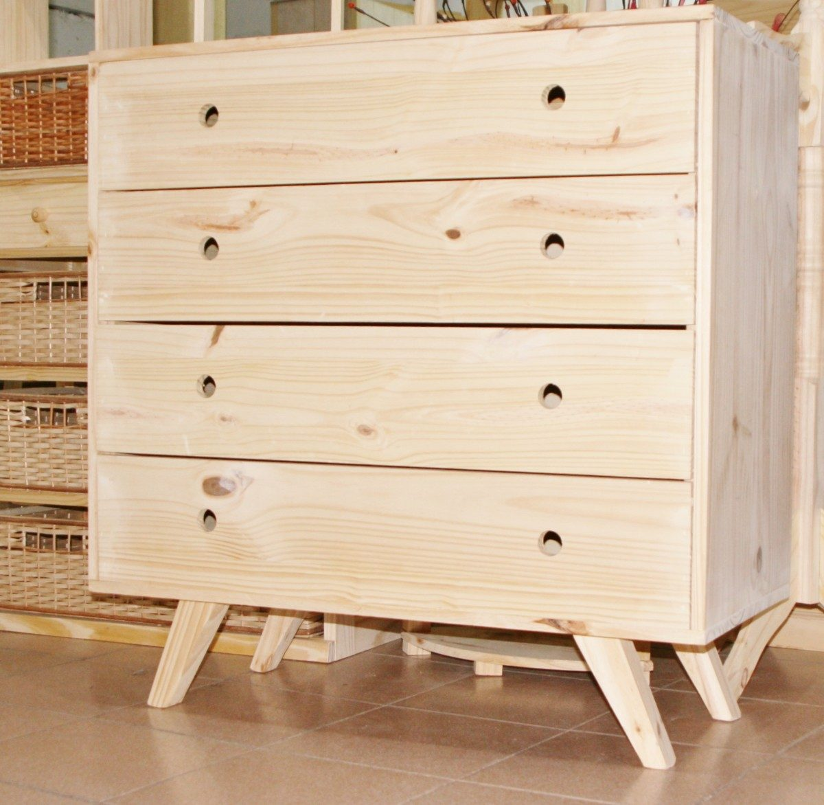 Cajonera Comoda Chifonier Retro Nordica1 00×1 00 M Pino 2 998  # Muebles Efecto Vintage