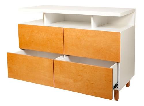 cajonera comoda madera laqueada dormitorio forbidan muebles