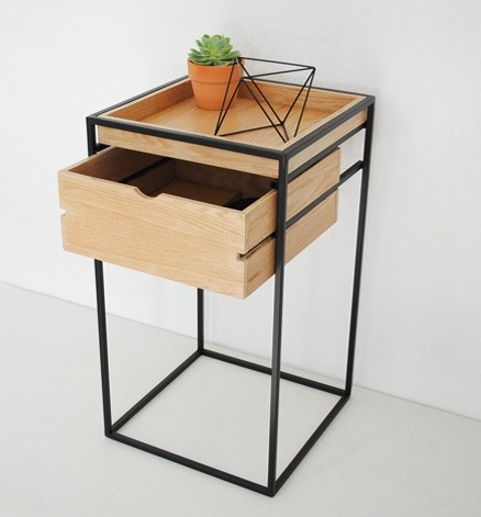 Cajonera de acero y madera mueble dise o moderno mueble for Muebles madera diseno
