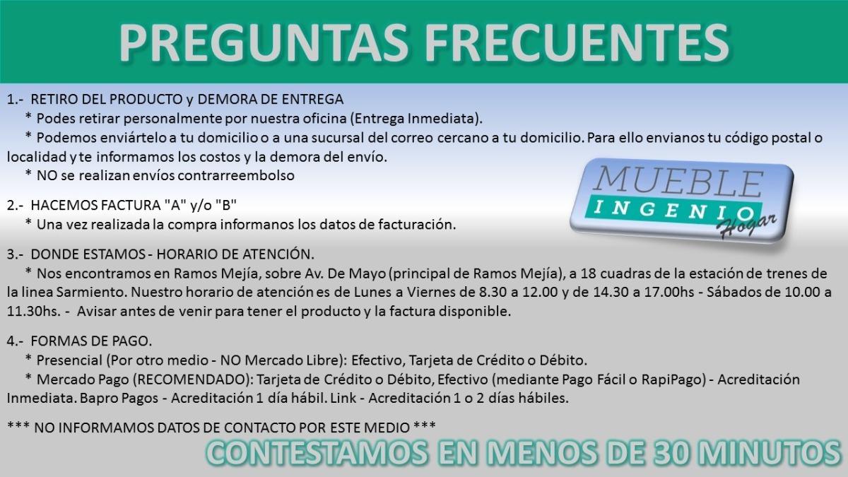 Cajonera Interior Placard Melamina Guias Metalicas Mueble  # Muebles Ramos Mejia