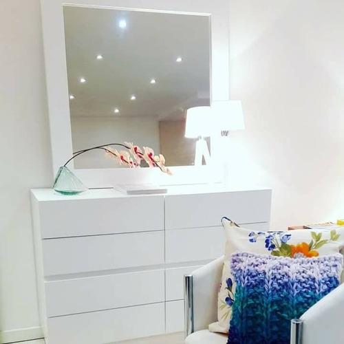 cajonera laqueada blanco espejo forbidan muebles