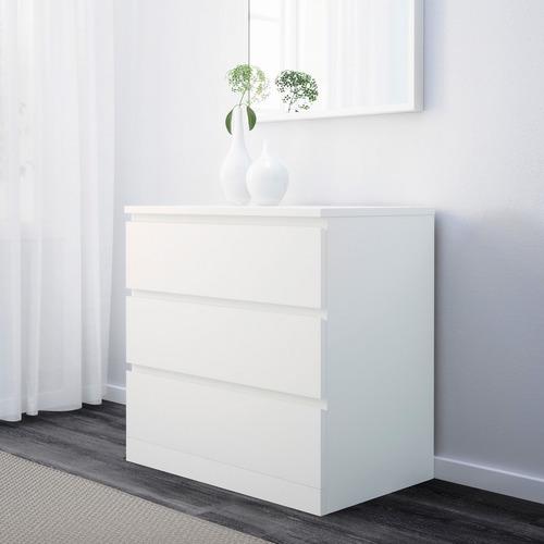 cajonera minimalista ikea malm blanco