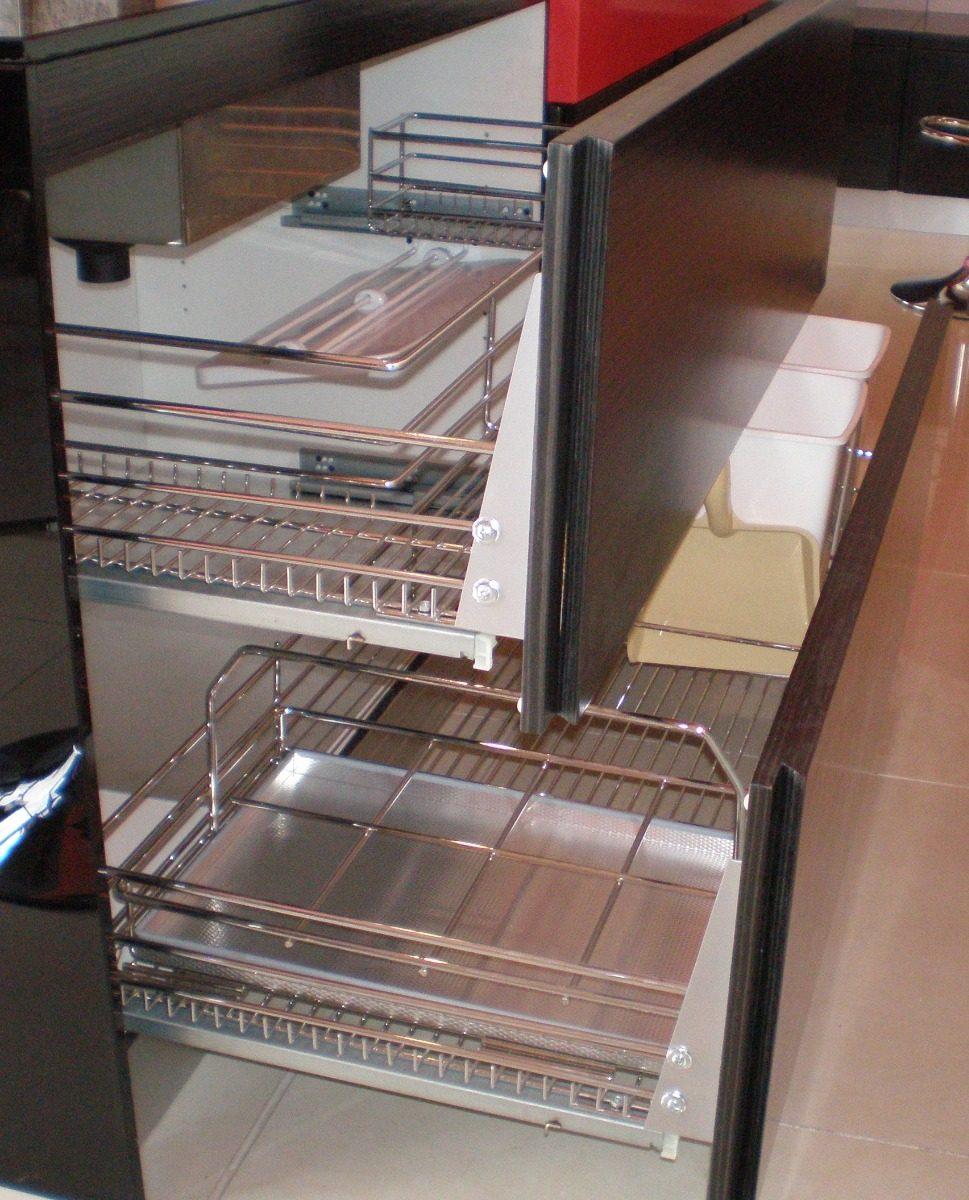 Cajones Cromados Para Muebles De Cocina - $ 1.520,00 en Mercado Libre