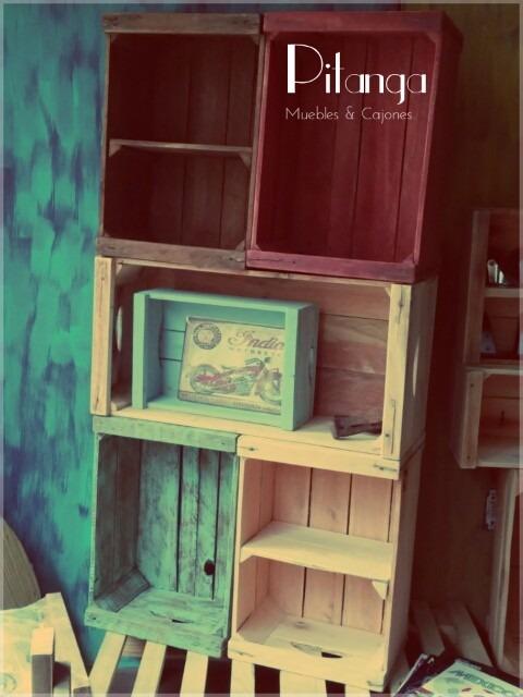 Cajones de feria decoraci n y mercado rusticos vintage 220 00 en mercado libre - Muebles con cajones de madera ...