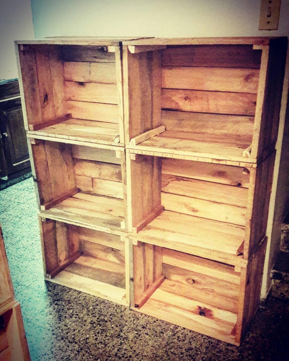 Cajones de madera feria nuevos frutas y verduras impecables 320 00 en mercado libre - Cajones de fruta de madera ...