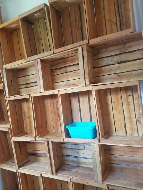 cajones de madera para frutas y verdura y para muebles