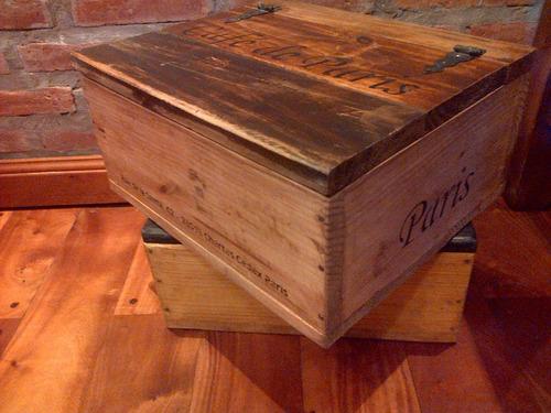 cajones de maderas recuperadas estilo vintage-antiguos