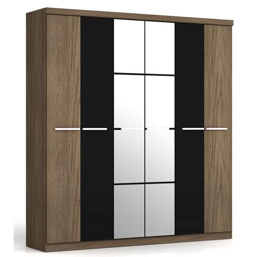 cajones espejo melamina diseño lujo placard ropero 6 puertas